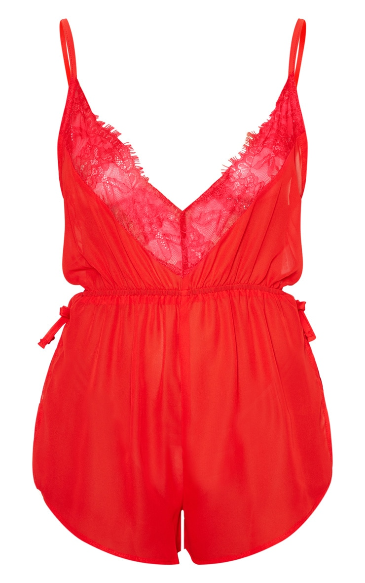 Keke Red Chiffon Teddy 3