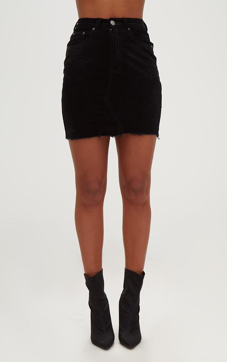 Black Cord Mini Skirt 2