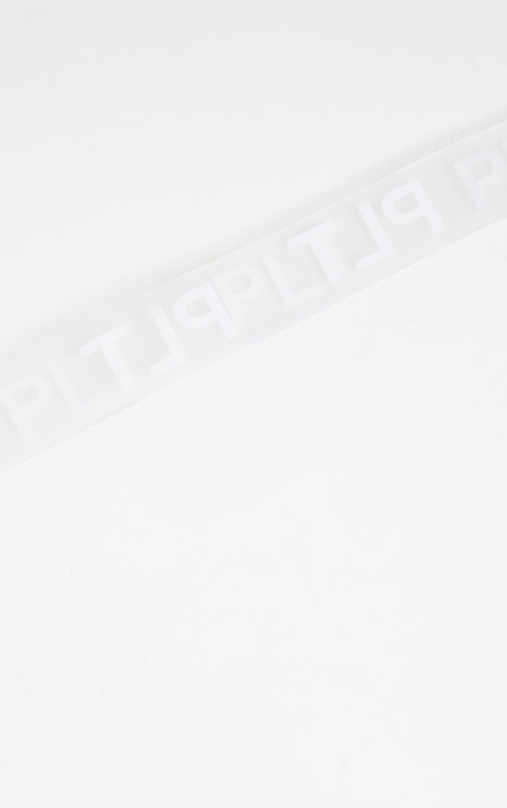 PRETTYLITTLETHING Clear White Taping Belt 2
