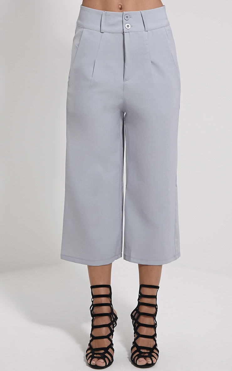 Harlow Grey High Waisted Culottes 2