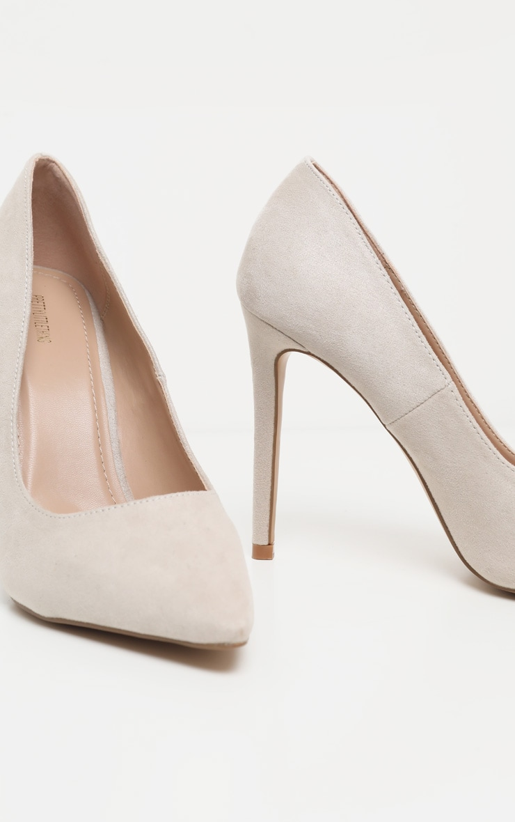 Nude Heeled Court Shoes 4