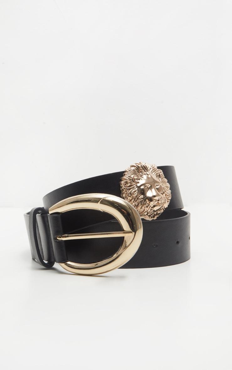 Black PU Lion Belt 2