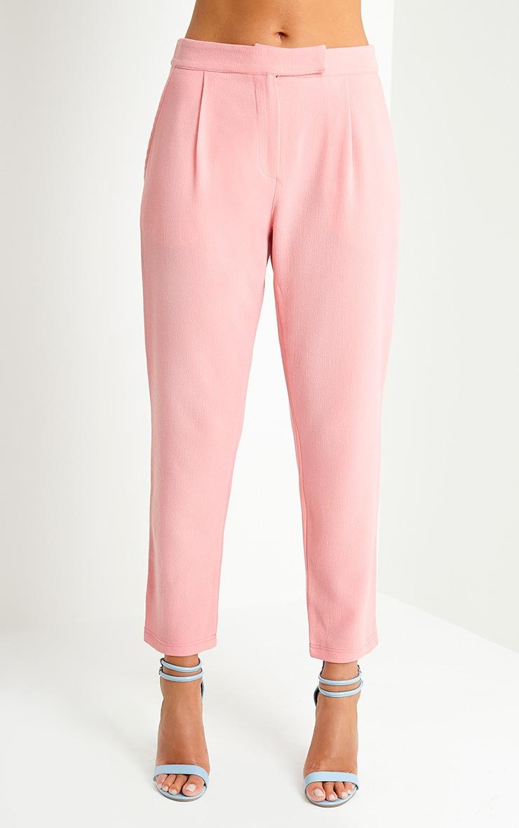 Lyndi Pink Crepe Trousers 2
