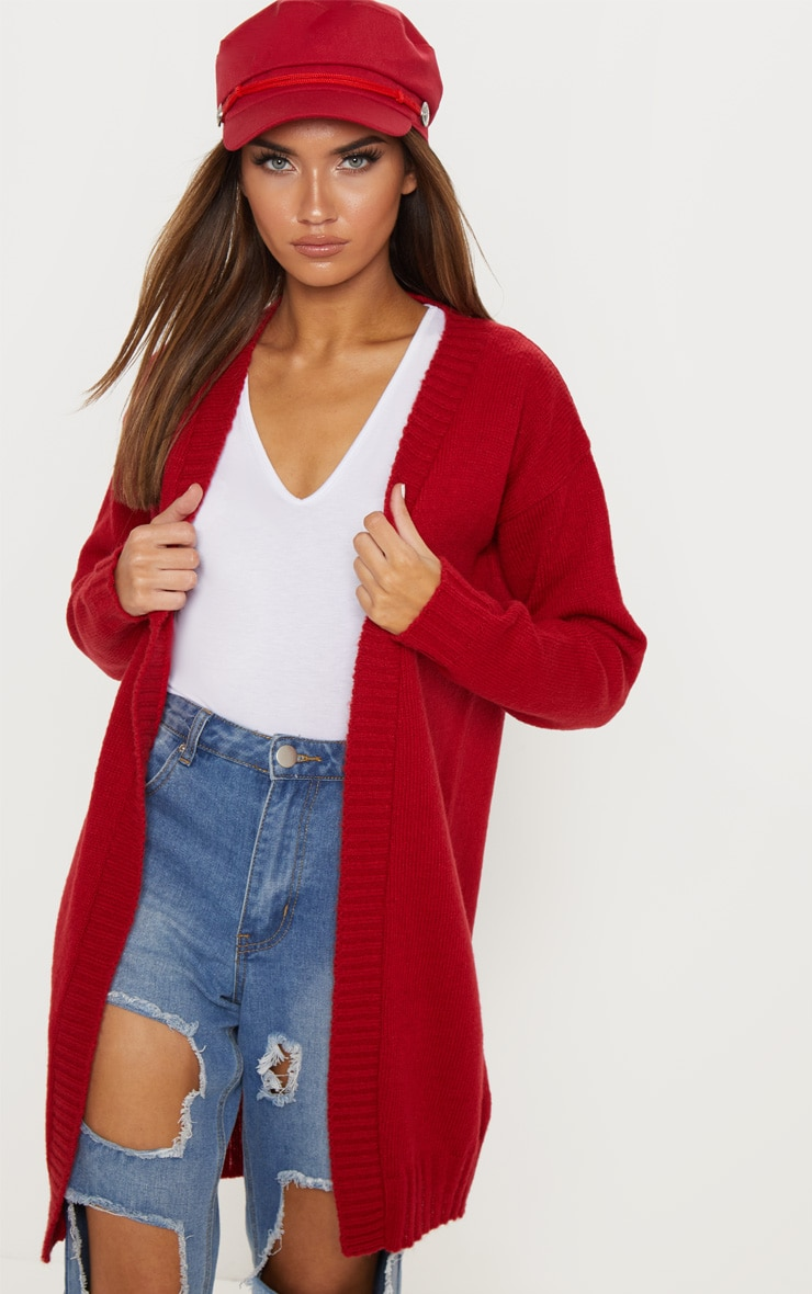 Red Knitted Laguna Yarn Cardigan 4