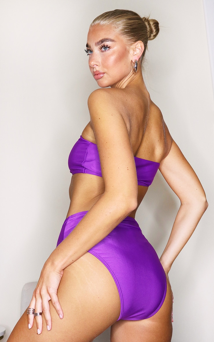 Purple Mix & Match Bandeau Bikini Top 2