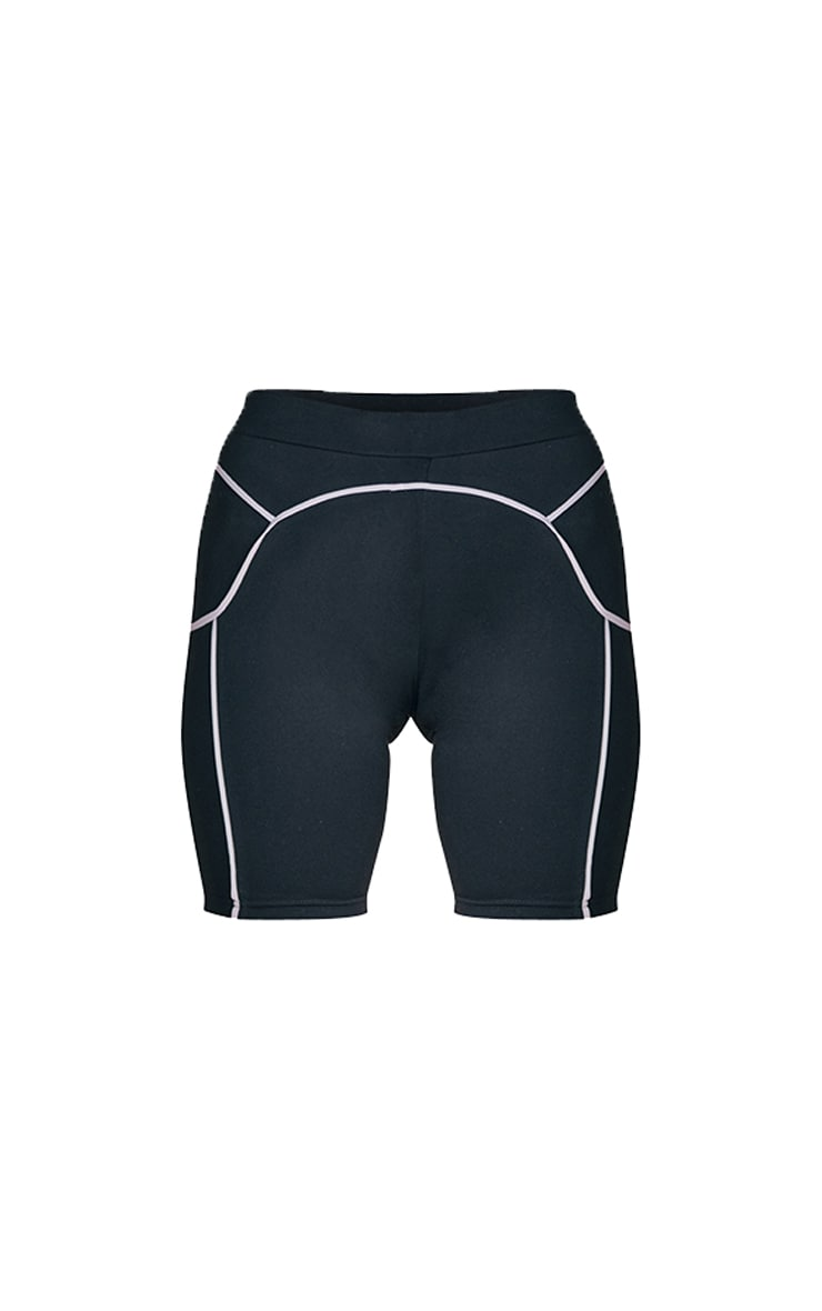 Black Contrast Cycle Shorts 5