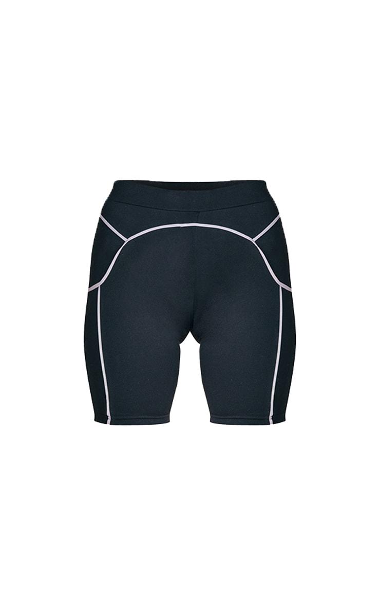 Black Contrast Bike Shorts 5