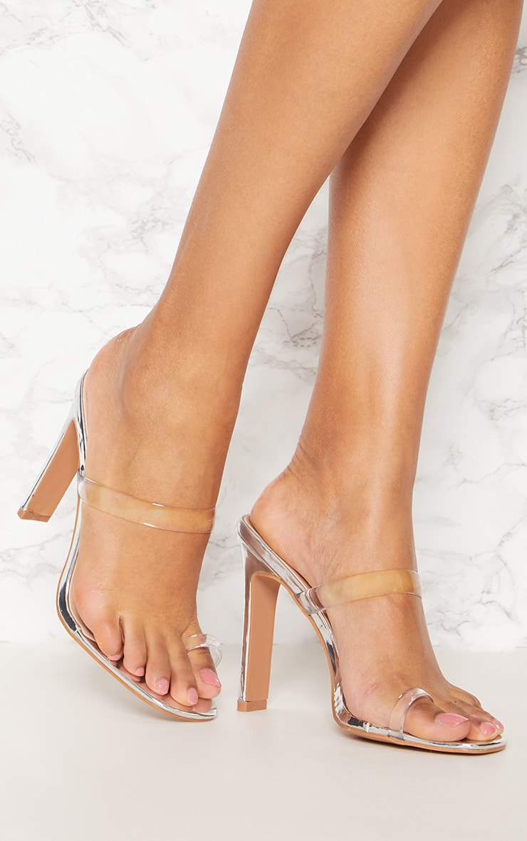 Clear Toe Loop Flat Heel Mule
