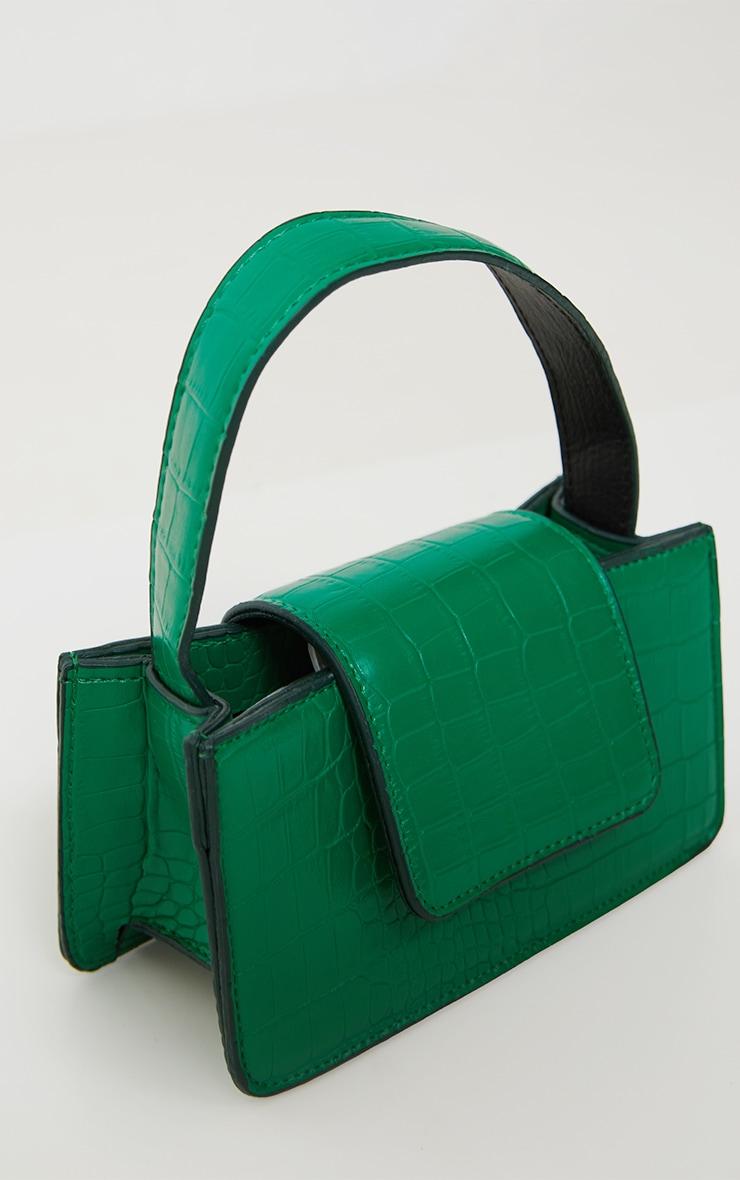 Green Croc Front Flap Mini Bag 3