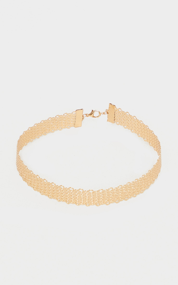 Gold Solid Rope Choker 3