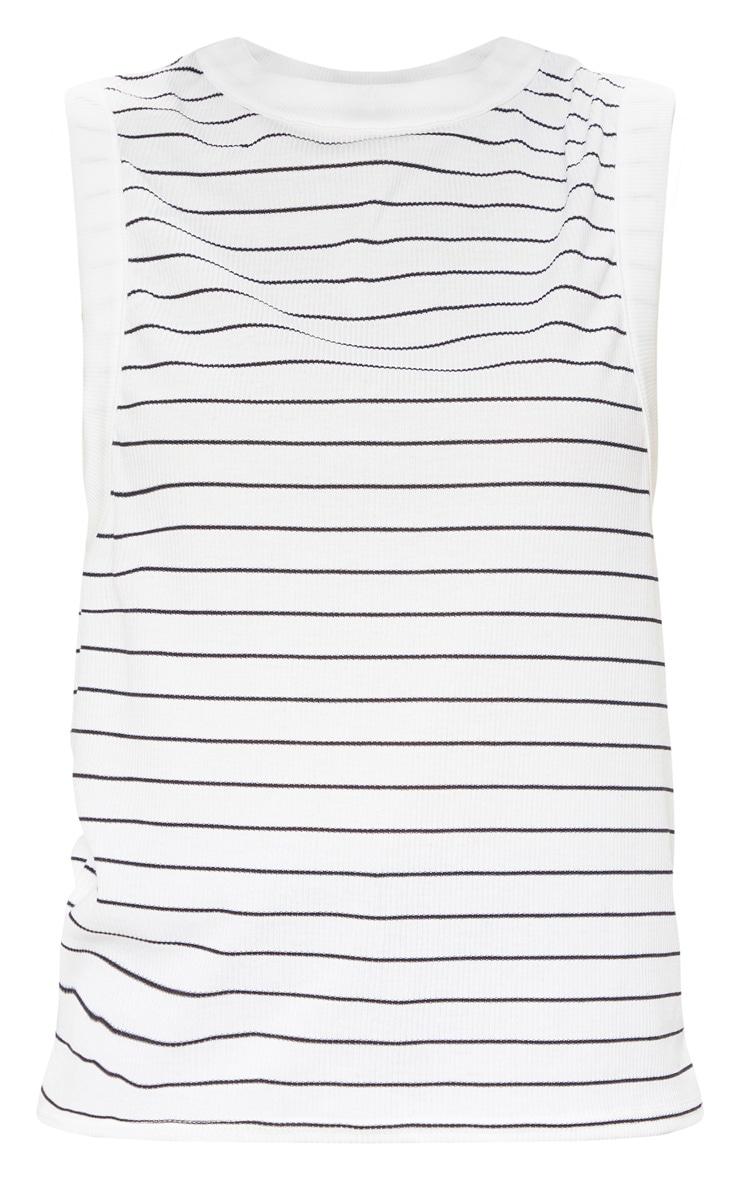 Mono Stripe Soft Rib Oversized Casual Vest 3