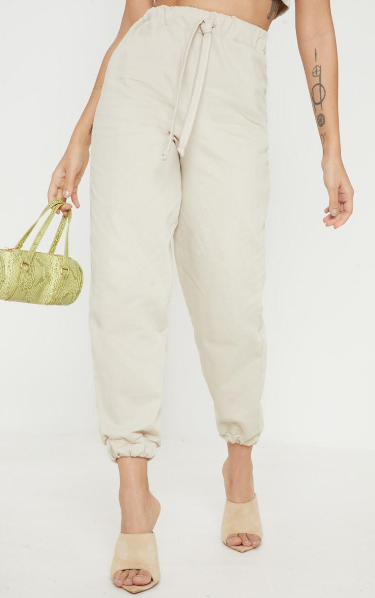 Petite Stone  Elastic Waist Jogger Pants 3