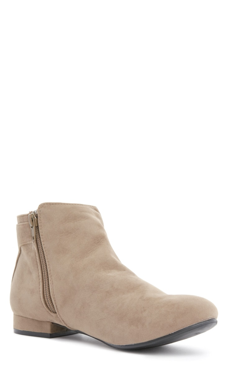 Layla Beige Suede Ankle Boots 3