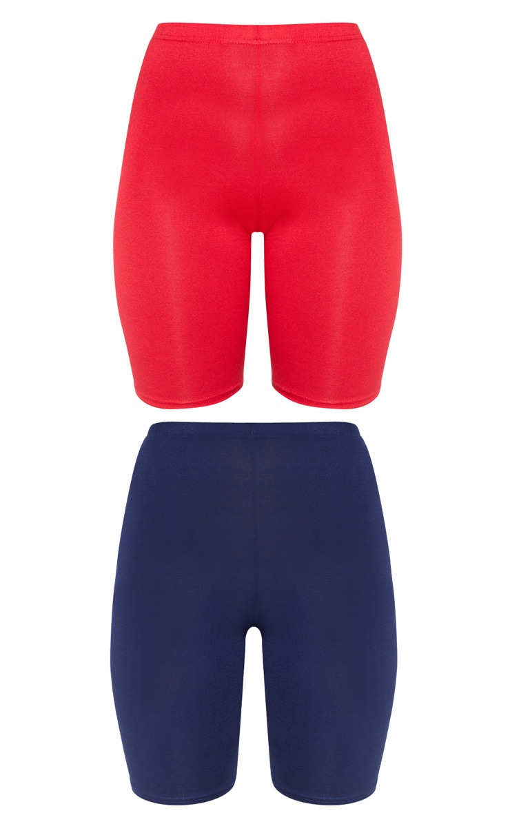 Navy & Red Basic Cycle Short 2 Pack 3