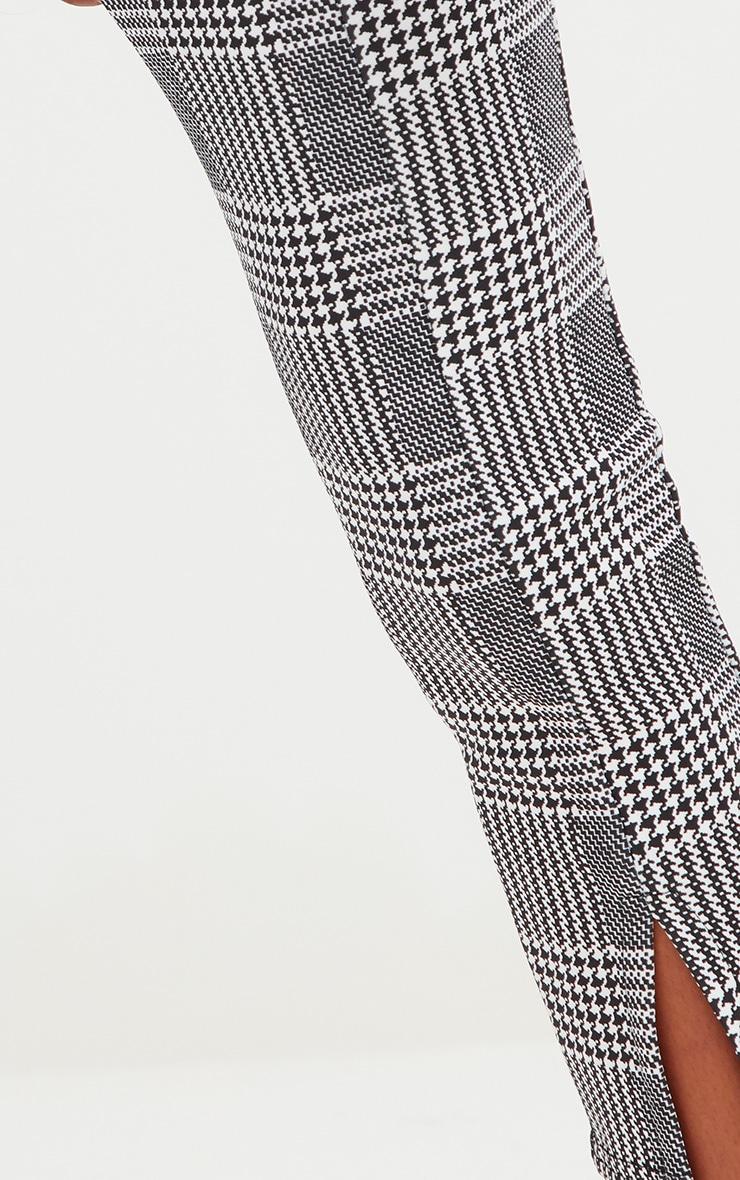 Petite Check Split Hem Trousers 4