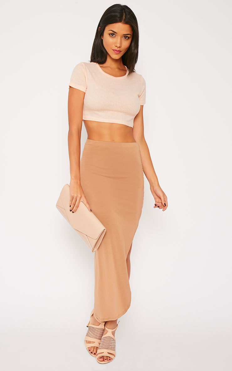 Basic Nude Rib Crop Top 4