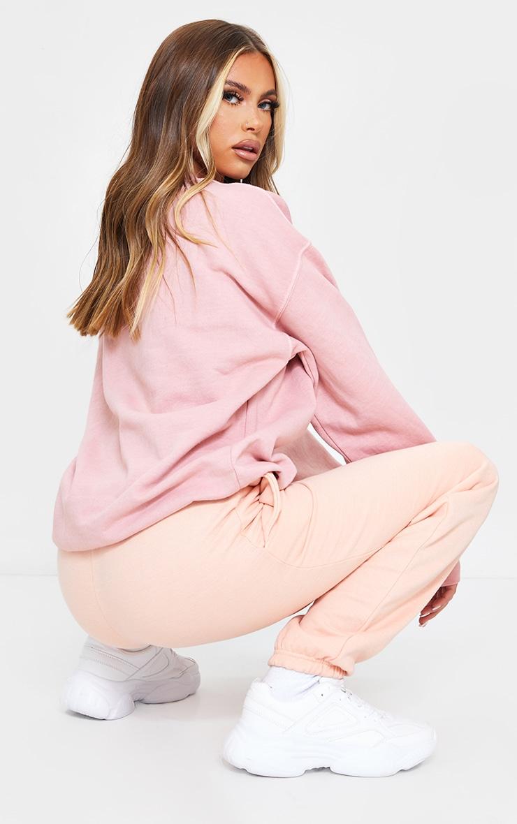 PRETTYLITTLETHING Dusty Pink Studio Washed Sweatshirt 2