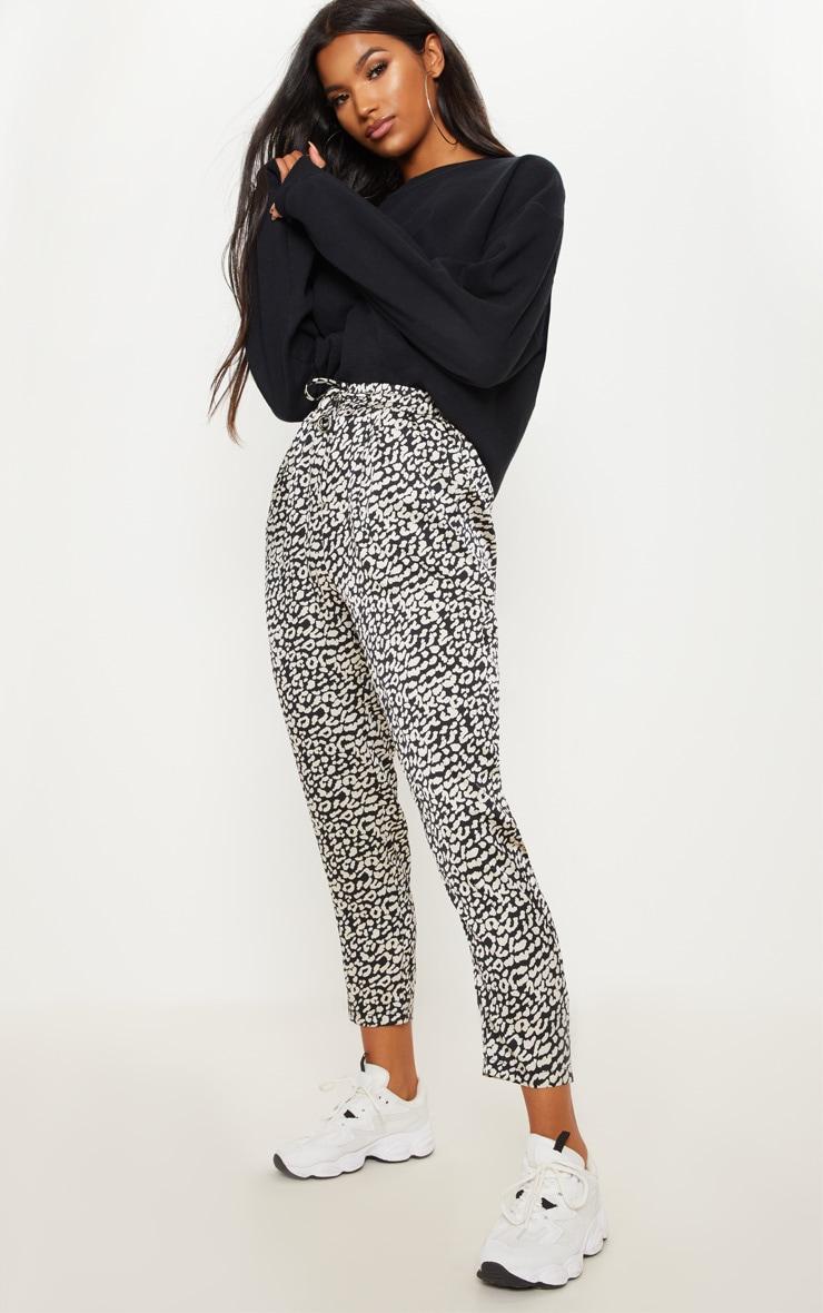 Leopard Printed Cigarette Trouser