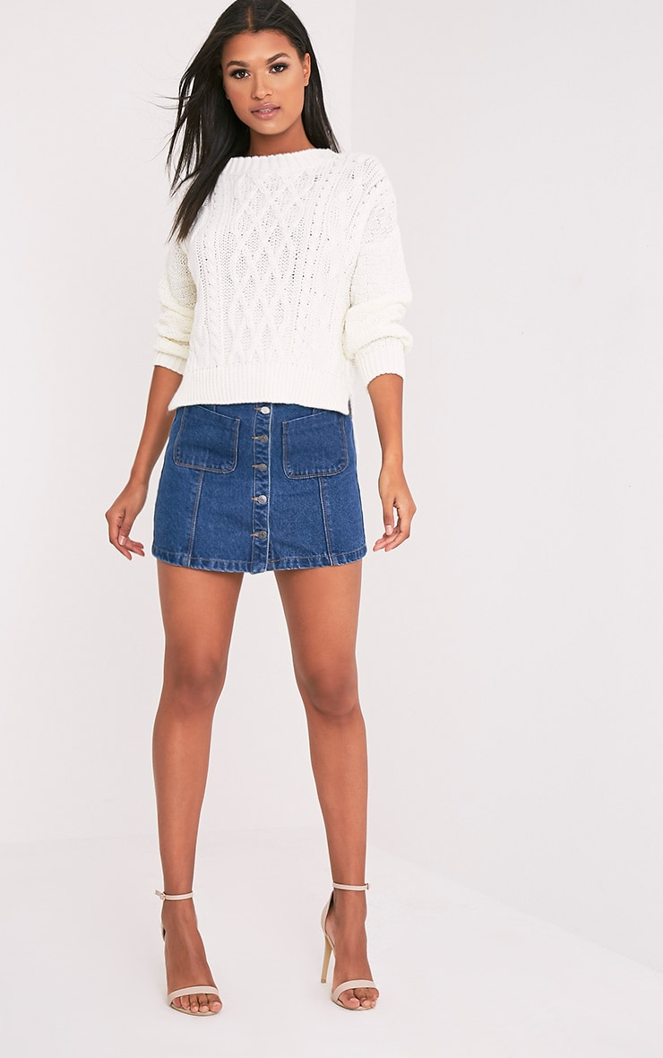 Chyanne Cream Cable Knit Jumper 5