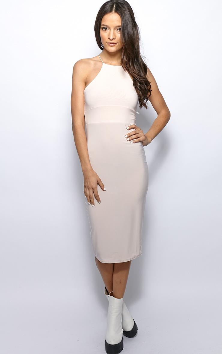 Michelle Nude Lurex Bodycon Dress 4
