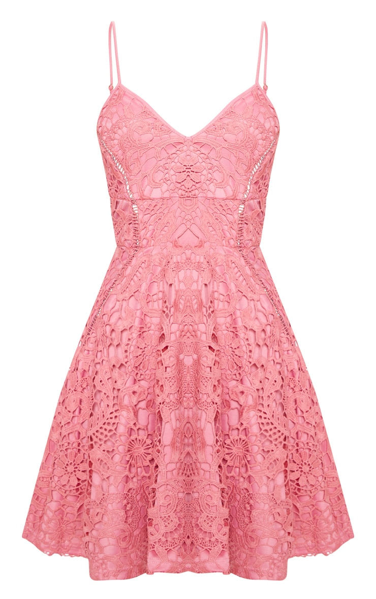 Rose Strappy Lace Cami Skater Dress 3