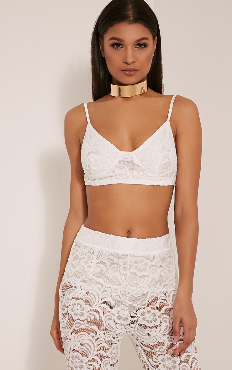 Madeira Cream Lace Bralet 1