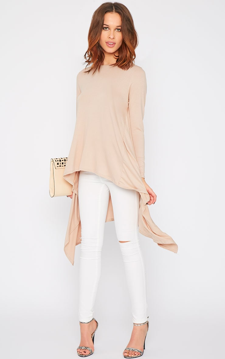 Sophie Nude Asymmetric Swing Top   1