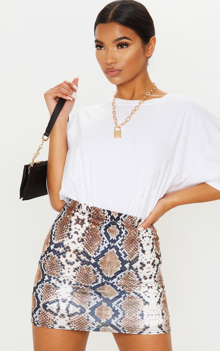 Cloressa Snake Print Mini Skirt