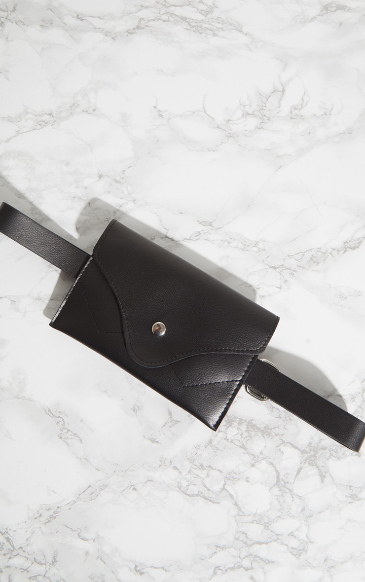 Black Envelope Belt Bag 3