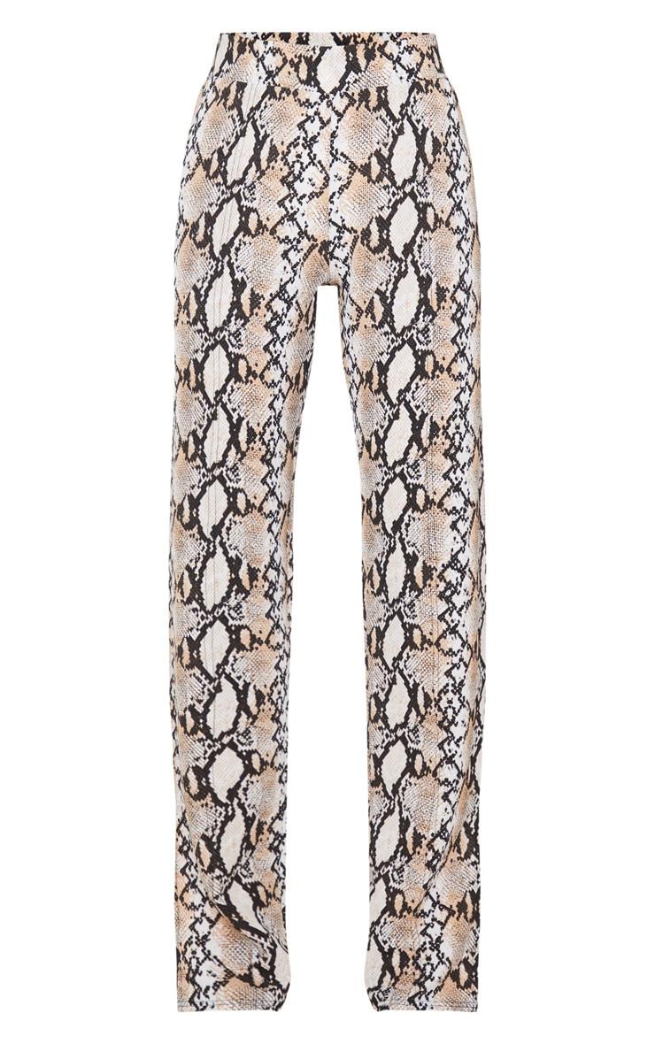 White Snake Straight Leg Split Hem Pants 3
