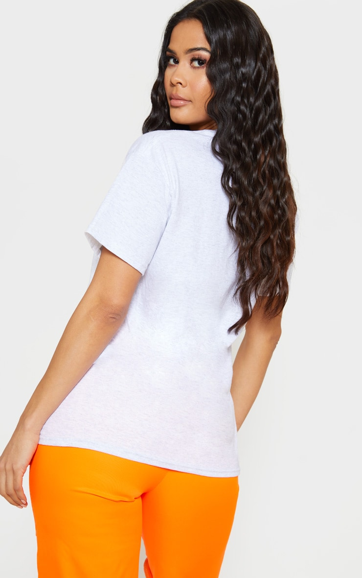 PRETTYLITTLETHING Grey PLT Embroidered Oversized T Shirt 2