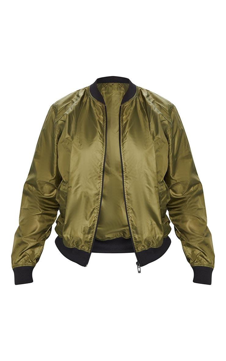 Plus Khaki Lightweight Bomber Jacket 5