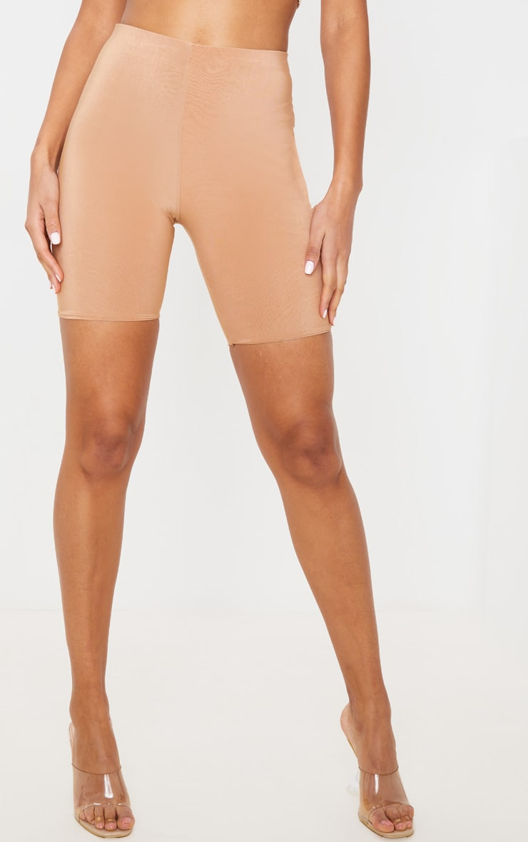 Bella Camel Slinky High Waisted Bike Shorts 2