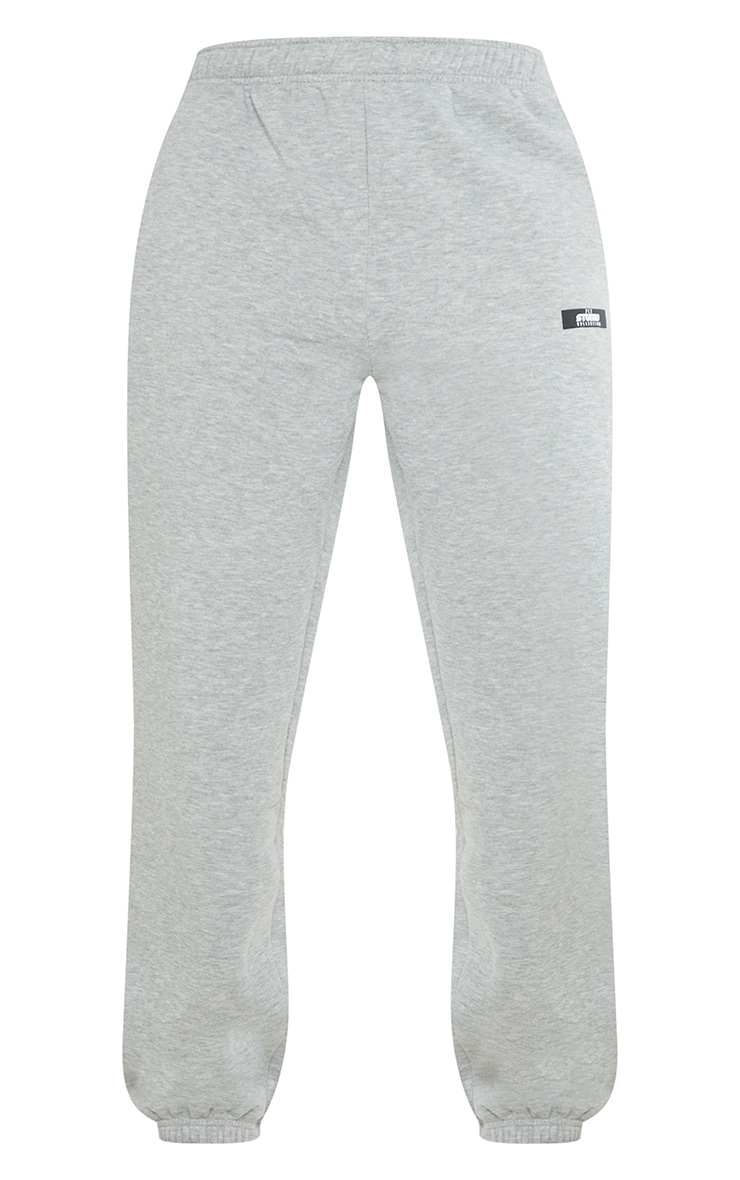 PRETTYLITTLETHING Tall Grey Studio Oversized Joggers 5