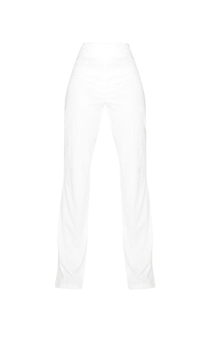 Tall White Lace Wide Leg Pants 5