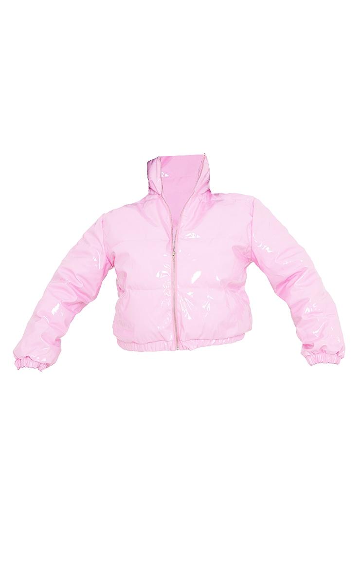 Plus Pink Vinyl Puffer Coat 5