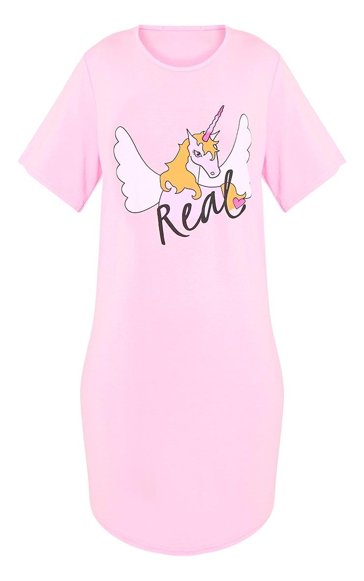 Thea Pale Pink Unicorn Nightie 3