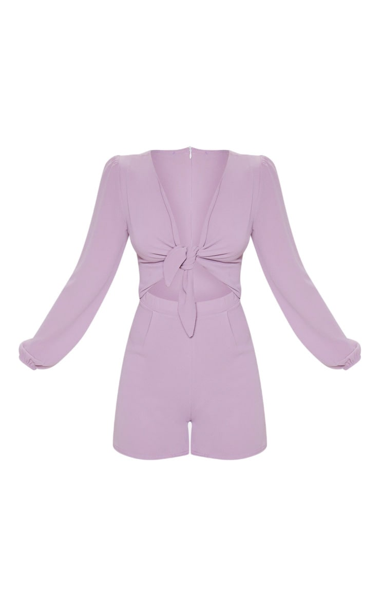 Lilac Tie Front Playsuit 3