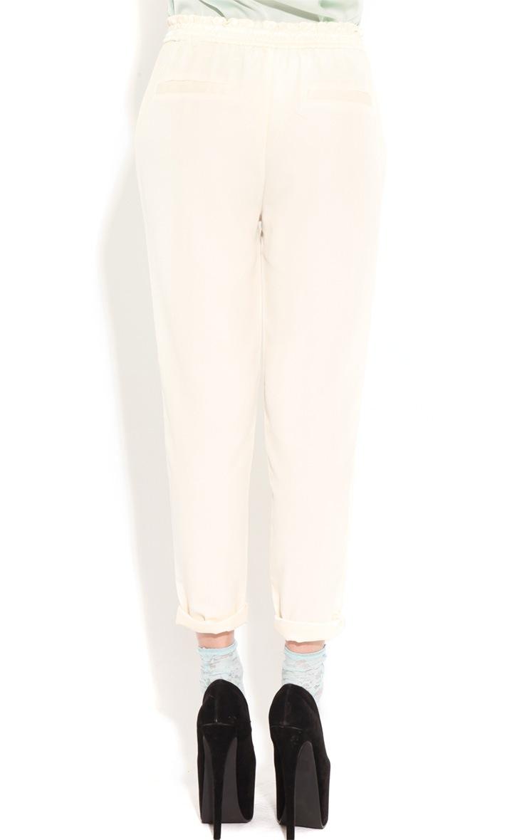 Gracy Cream Chiffon Trousers 2