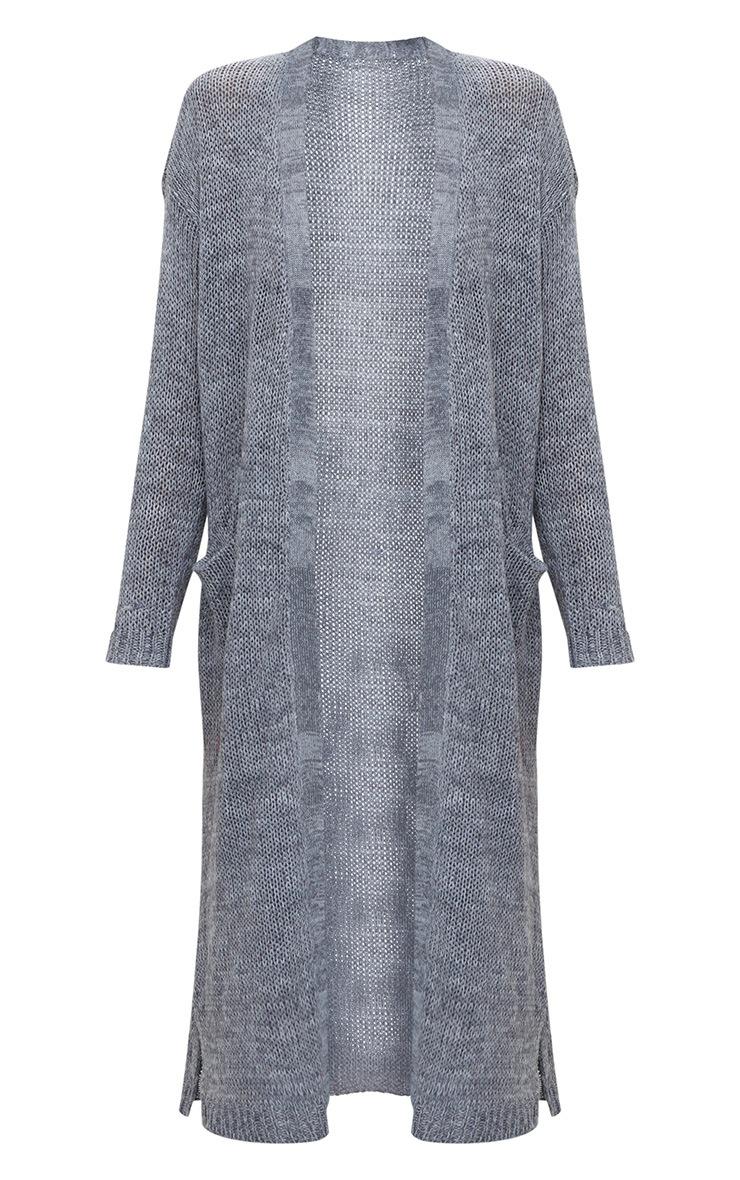 Grey Longline Cardigan 3