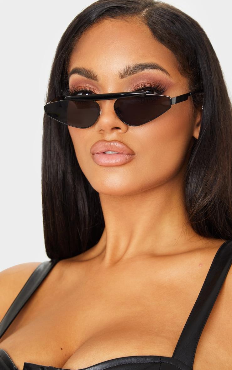 Black Brow Bar Slim Almond Lens Sunglasses 1