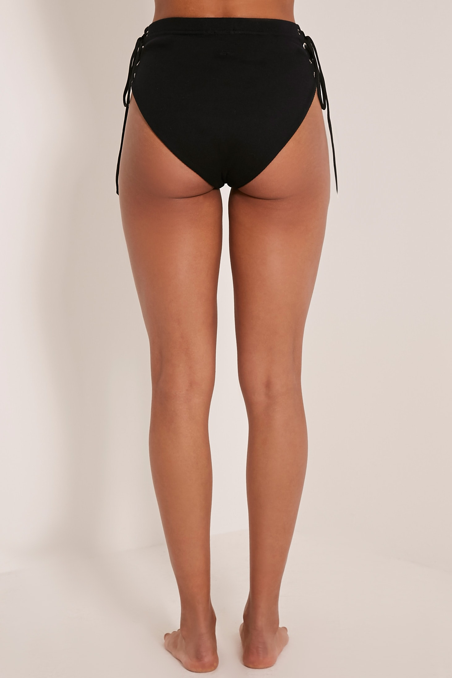 Lucha Black Ribbed Jersey Co-Ord Bottoms 5