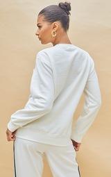 PRETTYLITTLETHING Cream Copyright Embroidered Sweatshirt 2