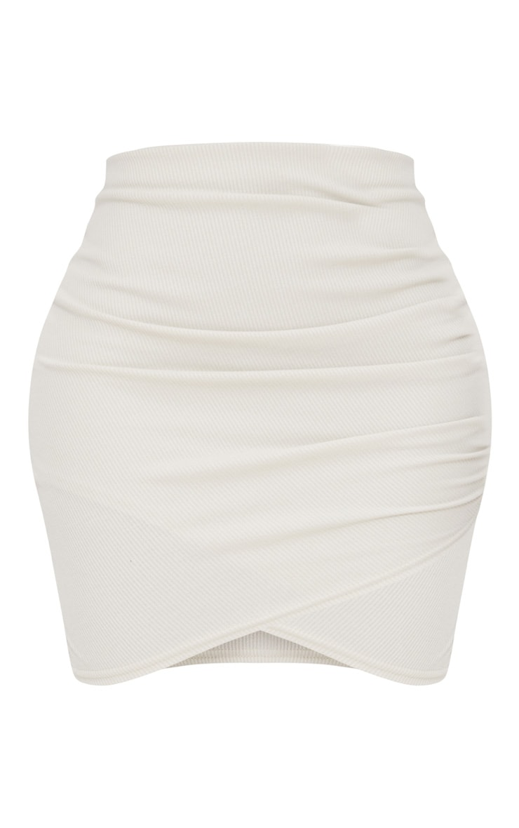 Shape Stone Ribbed Bodycon Skirt 3