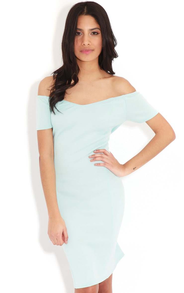Sadia Baby Blue Off The Shoulder Dress 1