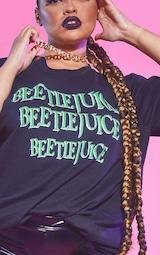 Plus Black Beetlejuice Oversized T Shirt 4