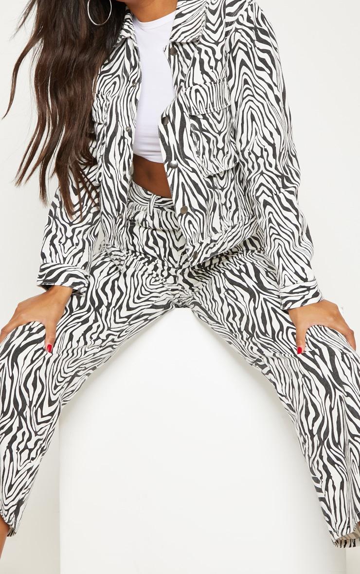 Zebra Wide Leg Utility Cropped Jeans 5