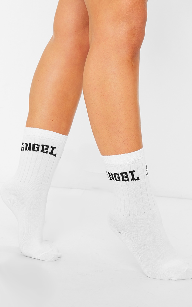 Angel College Print Ankle Socks 1