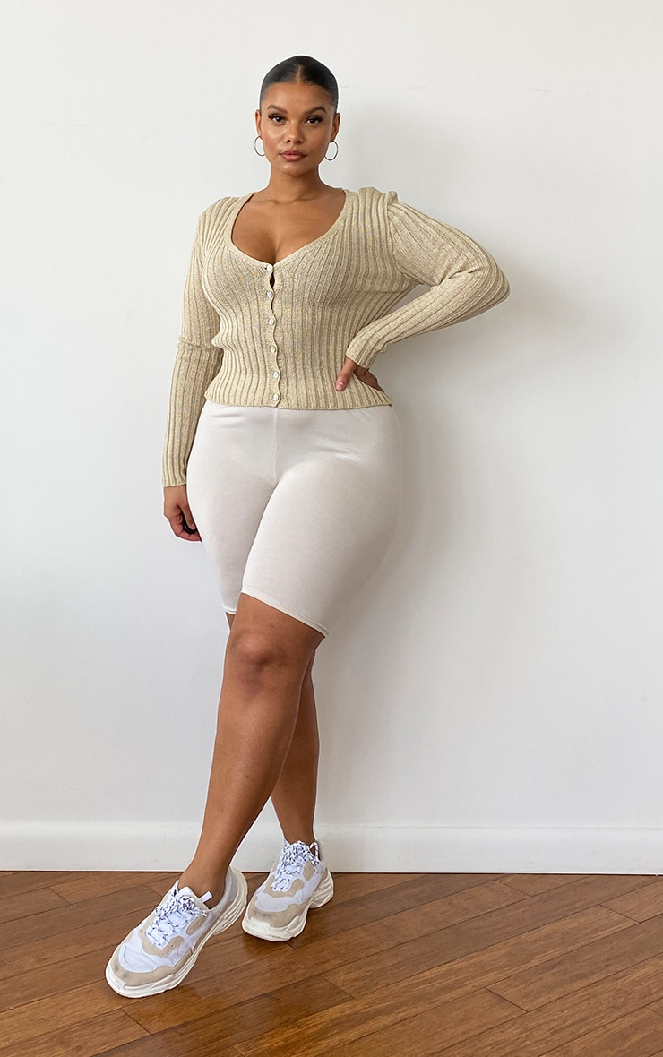 Plus Beige Skinny Fit Cardigan 3