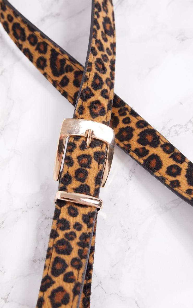 Leopard Skinny Belt 5